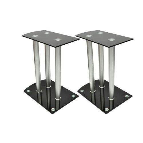 vidaXL 2x Luxus Lautsprecherständer Glas Lautsprecher