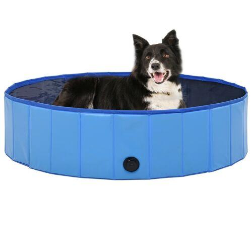 vidaXL Hundepool Faltbar Blau 120 x 30 cm PVC