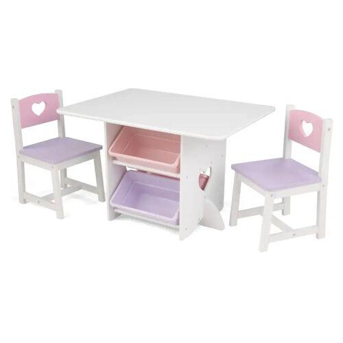 KidKraft Herz-Tisch mit 2 Stühlen Set