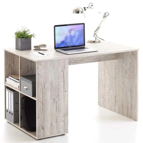FMD Schreibtisch mit Regal 117×73×75 cm Sandeiche