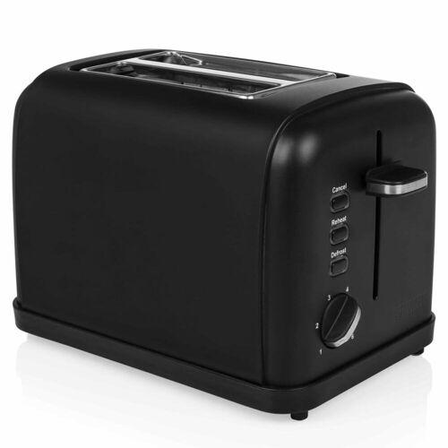 Princess Toaster 950 W Edelstahl Mattschwarz