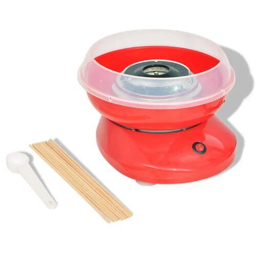 vidaXL Zuckerwattemaschine 480 W Rot