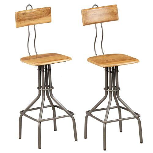 vidaXL Barstühle 2 Stk. Altholz Teak