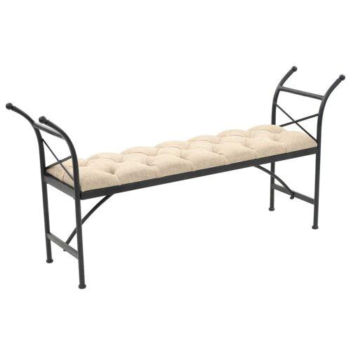 vidaXL Sitzbank mit Stoffpolsterung 148,5 × 35 × 71,5 cm