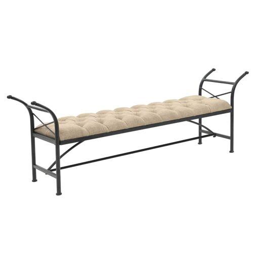 vidaXL Sitzbank mit Stoffpolsterung 185,5 × 36 × 72,5 cm