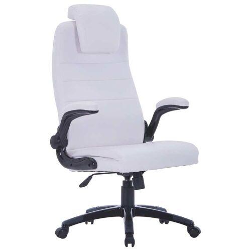 vidaXL Bürostuhl Drehstuhl aus weißem Kunstleder