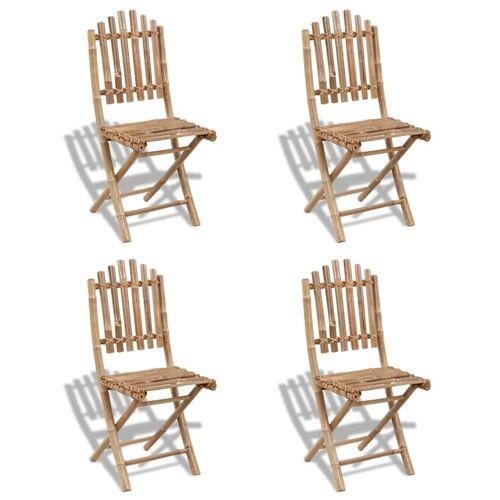 vidaXL Gartenstühle Bambus faltbar (4 Stück)