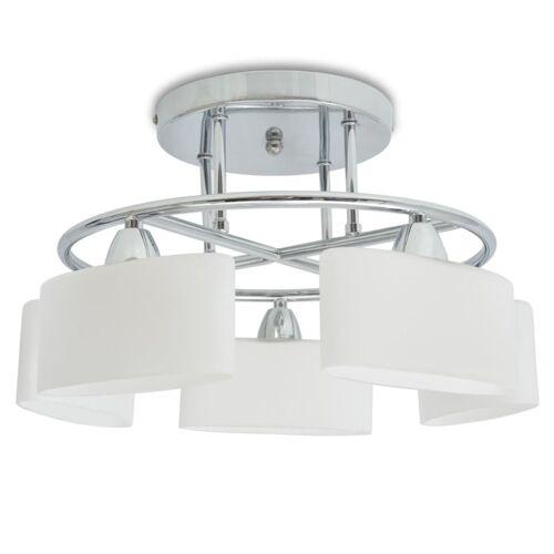vidaXL Deckenleuchte Ellipsoid-Glaslampenschirme 5 E14-Lampen 200 W
