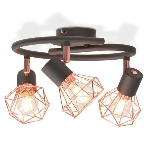 vidaXL Deckenlampe mit 3 LED-Glühlampen 12 W