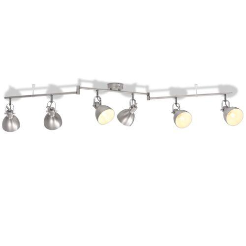 vidaXL Deckenlampe für 6 Glühlampen E14 Grau