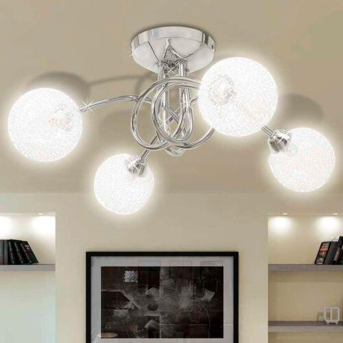 vidaXL Deckenleuchte mit Drahtgeflecht-Lampenschirme 4 × G9 Glühlampen