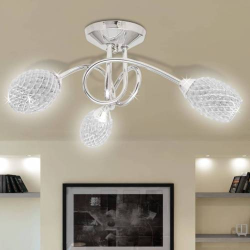 vidaXL Beleuchtung Decken Leuchte Lampe Deckenlampe 3 x G9