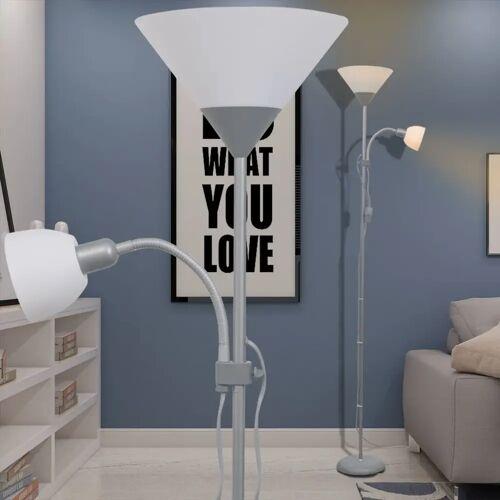 vidaXL Stehlampe Grau