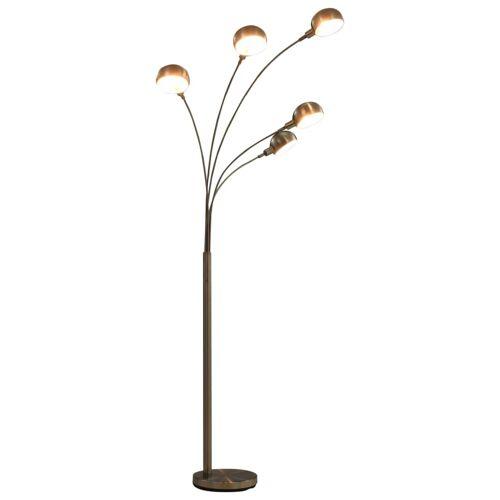 vidaXL Stehlampe 200 cm 5 x E14 Silbern