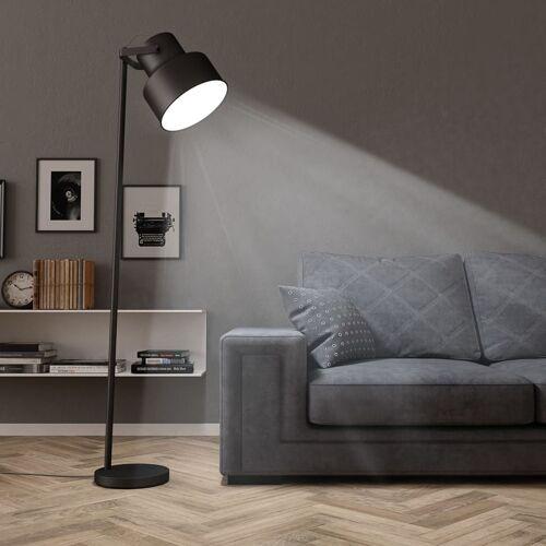 vidaXL Stehlampe Metall Schwarz E27