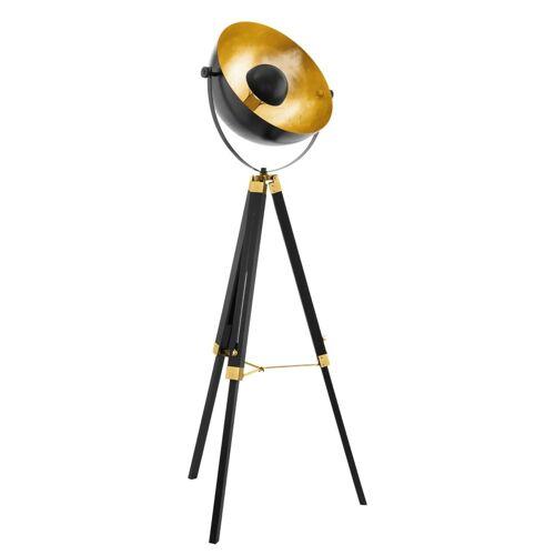 EGLO Stehlampe COVALEDA Schwarz und Messing 49618