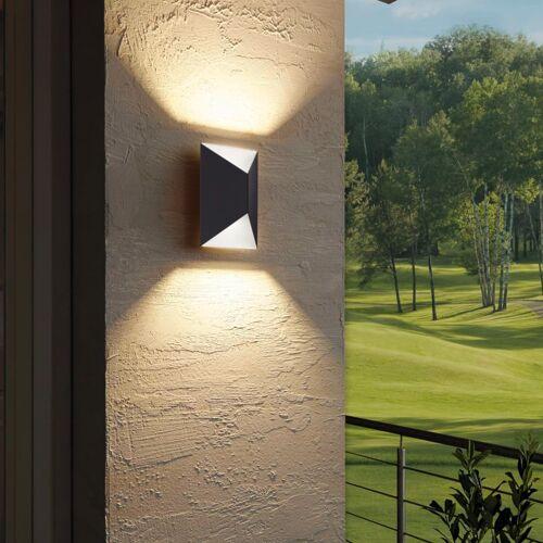 EGLO LED-Außenwandleuchte Predazzo 2×2,5 W Weiß