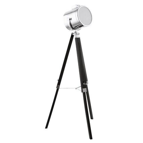 EGLO Stehlampe Upstreet 150 cm Chrom/Schwarz 94368