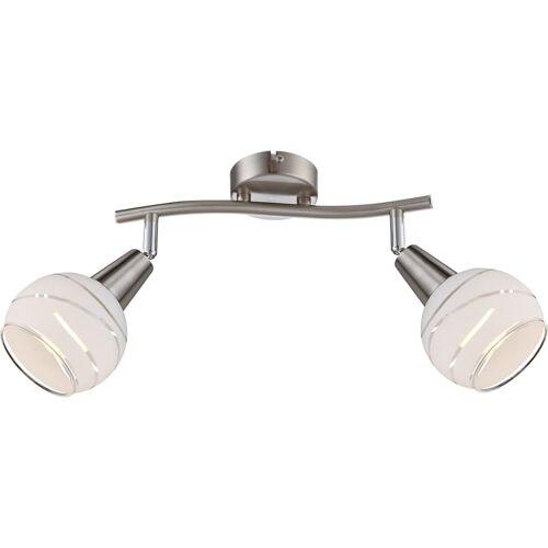 GLOBO LED-Strahler mit zwei Lampen ELLIOTT Nickel Matt 54341-2