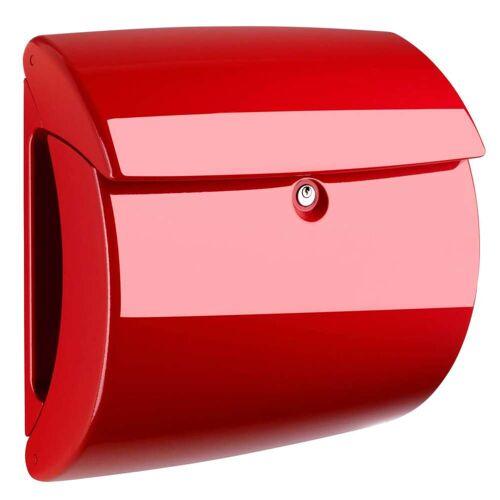 BURG-WÄCHTER Briefkasten Piano 886 R Kunststoff Rot