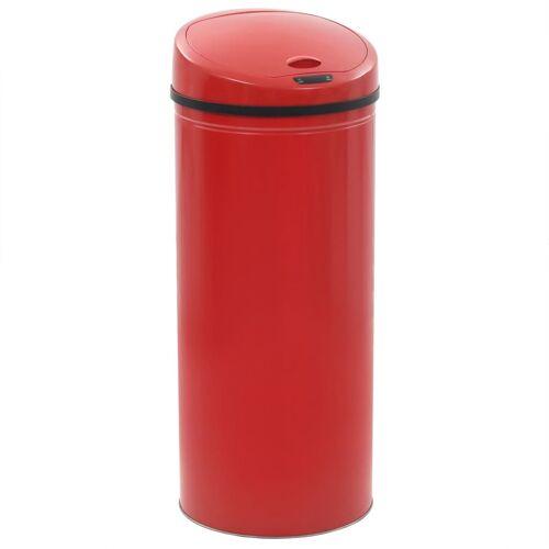 vidaXL Sensor-Mülleimer 62 L Rot