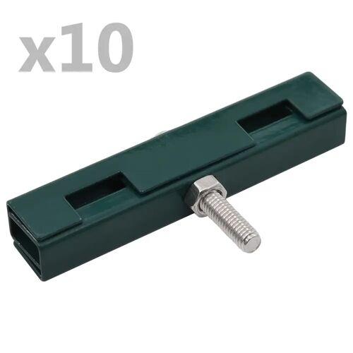 vidaXL U-Mattenverbinder 10 Sets Grün