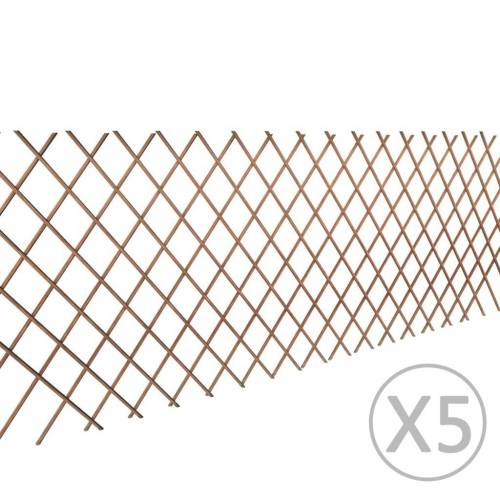 vidaXL 5x Rankgitter Weide Spalier Rankhilfe Gitter 90 x 180 cm