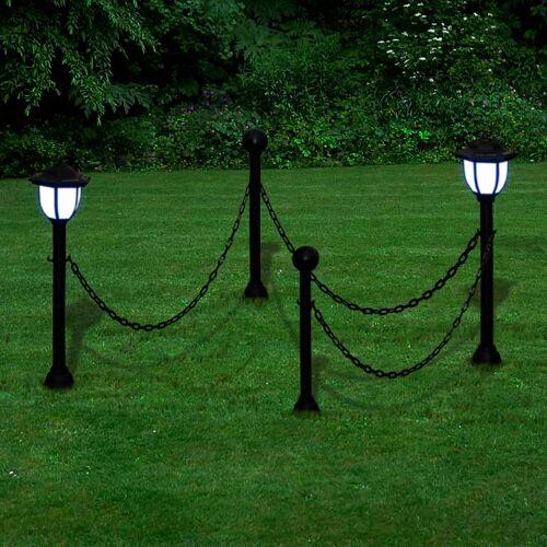 vidaXL 2x LED Lampe Solarleuchte Außenlampe Gartenleuchte Laterne