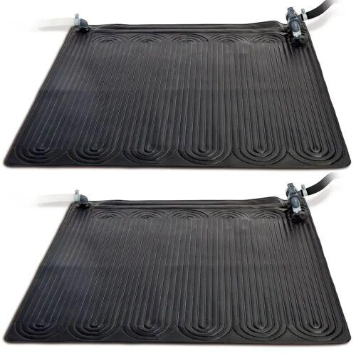 Intex Solarmatte Poolheizung 2 Stk PVC 1,2x1,2 m Schwarz 28685