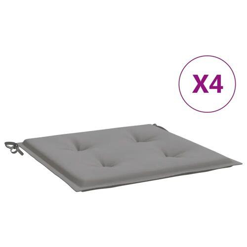 vidaXL Gartenstuhl-Kissen 4 Stk. Grau 40×40×3 cm