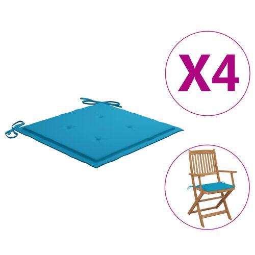 vidaXL Gartenstuhl-Kissen 4 Stk. Blau 40×40×3 cm