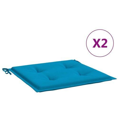vidaXL Gartenstuhl-Kissen 2 Stk. Blau 50×50×3 cm