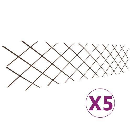 vidaXL Weidenzaun-Rankgitter 5 Stk. 180×60 cm