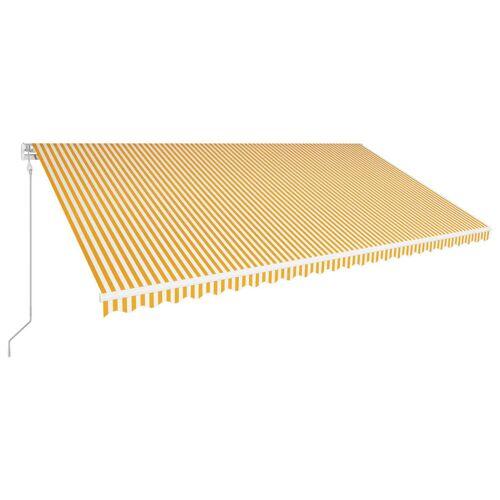 vidaXL Automatisch Einziehbare Markise 600 x 300 cm Gelb und Weiß