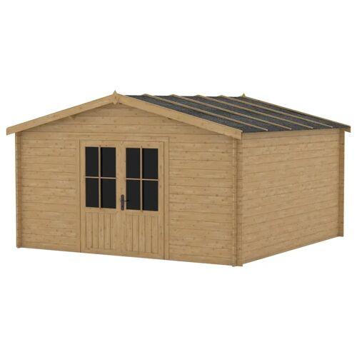 vidaXL Blockhaus 28 mm 400x400 cm Holz