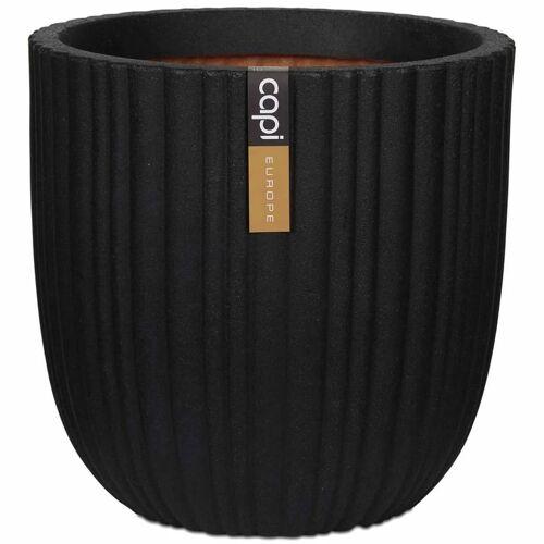 Capi Blumentopf Urban Tube Oval 54 x 52 cm Schwarz KBLT935