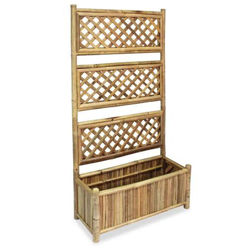 vidaXL Garten-Hochbeet mit Spalier Bambus 70 cm