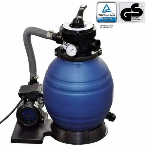 vidaXL Sandfilterpumpe 400 W 11.000 L/h