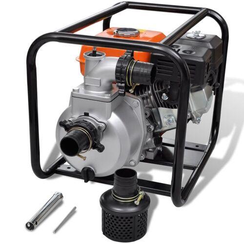 vidaXL Benzin-Wasserpumpe 50 mm Schlauchanschluss 5,5 PS