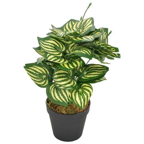 vidaXL Künstliche Pflanze Wassermelone Blätter mit Topf Grün 45 cm