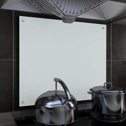 vidaXL Küchenrückwand Weiß 70 x 60 cm Hartglas
