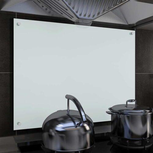 vidaXL Küchenrückwand Weiß 80 x 60 cm Hartglas