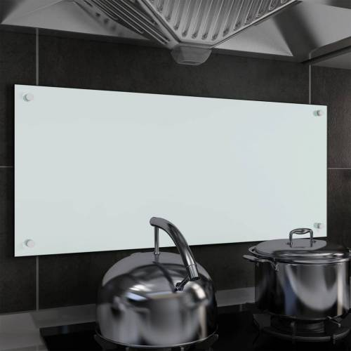 vidaXL Küchenrückwand Weiß 90 x 40 cm Hartglas
