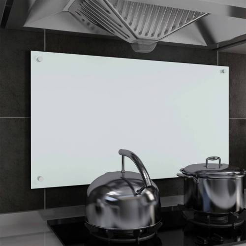 vidaXL Küchenrückwand Weiß 90 x 50 cm Hartglas