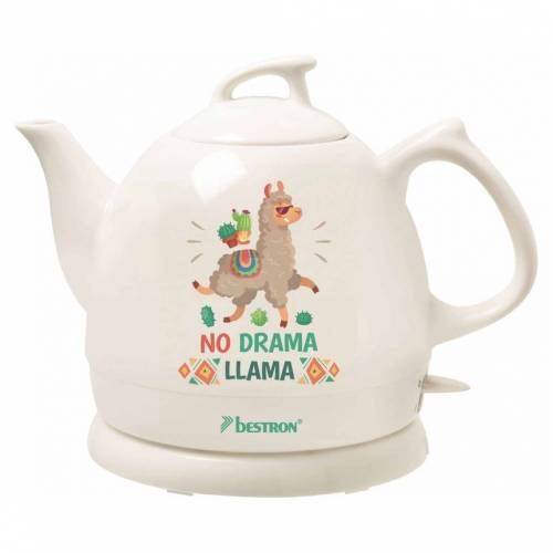 Bestron Keramik-Wasserkocher DTP800DL Weiß 0,8 L