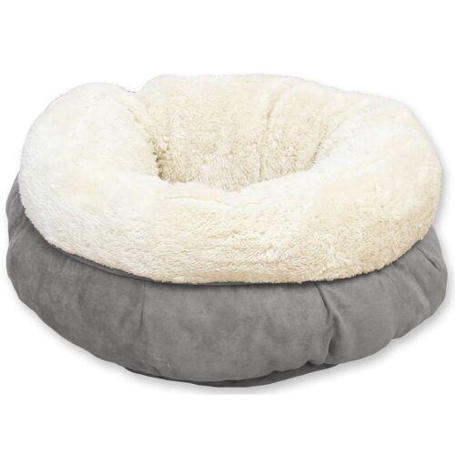 afp Hunde-/ Katzenbett Lammwolle Donutform Grau
