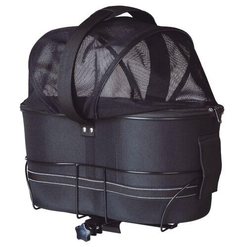 TRIXIE Fahrradtasche für Hunde 29x42x48 cm Schwarz 13118