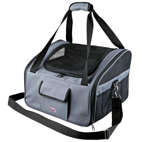 TRIXIE Sitzerhöhung und Transporttasche für Hunde Grau 13239