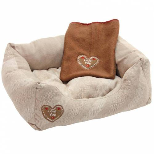 Kerbl Hundebett Love You 61 x 48 x 18 cm Beige 81262