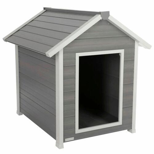 Kerbl ECO Hundehütte Hendry 88×98×101 cm Grau und Weiß